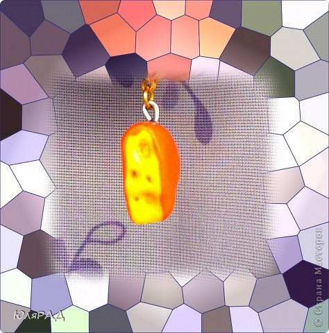 Скатать шарик из жёлтой пластики, сверху налепить лепёшку оранжевого пластика.......желательно тонкого слоя. Ещё раз покатать в шар, расплющить и разрезать канцелярским ножом))) Дырочки делала шпажкой: маленькие-острым концом большие-тупым, всё покрыла лаком. фото 4
