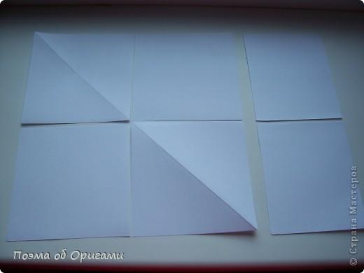 Эту модель я придумала сама специально для наших занятий с детьми накануне Светлого праздника. Несмотря на, возможно, кажущуюся сложность, вся работа состоит из очень известных и простых элементов. Для работы потребуется: - для фигурки ангела  три белых листа обычной офисной бумаги формата А4(из них будем делать квадраты); -  для модели дома два квадрата 20х20 коричневой хозяйственной или пергаментной бумаги.  Знаю, что такую, часто используют на почте. Я ее покупала в строительном супермаркете; - для «звезды Давида» два квадрата 10х10 золотистой бумаги для упаковки подарков и деревянная шпажка, окрашенная в белый цвет. Можно попробовать сделать звезду объемнее. МК здесь: http://stranamasterov.ru/node/4876; - стеклянный прозрачный, довольно закрытый подсвечник (может подойти небольшой стакан) и свеча.    фото 3