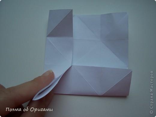 Эту модель я придумала сама специально для наших занятий с детьми накануне Светлого праздника. Несмотря на, возможно, кажущуюся сложность, вся работа состоит из очень известных и простых элементов. Для работы потребуется: - для фигурки ангела  три белых листа обычной офисной бумаги формата А4(из них будем делать квадраты); -  для модели дома два квадрата 20х20 коричневой хозяйственной или пергаментной бумаги.  Знаю, что такую, часто используют на почте. Я ее покупала в строительном супермаркете; - для «звезды Давида» два квадрата 10х10 золотистой бумаги для упаковки подарков и деревянная шпажка, окрашенная в белый цвет. Можно попробовать сделать звезду объемнее. МК здесь: http://stranamasterov.ru/node/4876; - стеклянный прозрачный, довольно закрытый подсвечник (может подойти небольшой стакан) и свеча.    фото 45