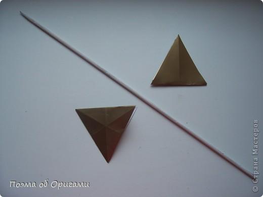 Эту модель я придумала сама специально для наших занятий с детьми накануне Светлого праздника. Несмотря на, возможно, кажущуюся сложность, вся работа состоит из очень известных и простых элементов. Для работы потребуется: - для фигурки ангела  три белых листа обычной офисной бумаги формата А4(из них будем делать квадраты); -  для модели дома два квадрата 20х20 коричневой хозяйственной или пергаментной бумаги.  Знаю, что такую, часто используют на почте. Я ее покупала в строительном супермаркете; - для «звезды Давида» два квадрата 10х10 золотистой бумаги для упаковки подарков и деревянная шпажка, окрашенная в белый цвет. Можно попробовать сделать звезду объемнее. МК здесь: http://stranamasterov.ru/node/4876; - стеклянный прозрачный, довольно закрытый подсвечник (может подойти небольшой стакан) и свеча.    фото 65