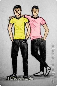 это рисует мой сын ему 16 лет это автопортрет он с братом фото 1