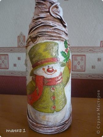 Насмотревшись новогодних бутылочек Мастериц, решила попробывать сделать... фото 2