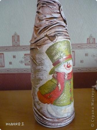 Насмотревшись новогодних бутылочек Мастериц, решила попробывать сделать... фото 4