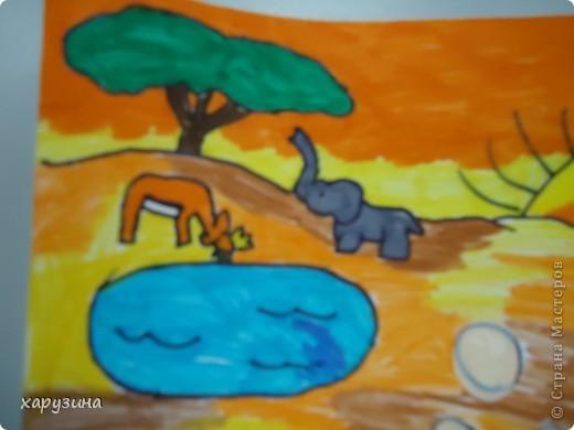 Такую афишу придумал и нарисовал Асаф к откратию сафари. фото 3