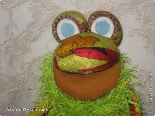 Этого лягушонка я шила давно, ещё учась в институте, а тут он мне попался на глаза и я решила его вам показать фото 2