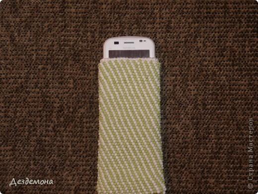 Еще один вязанный чехол для телефона  фото 1