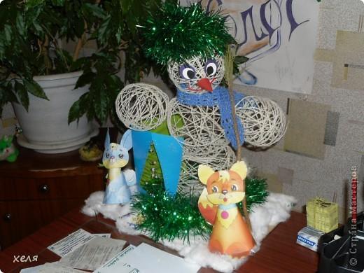 Снеговик по мастер-классу Ольги К.