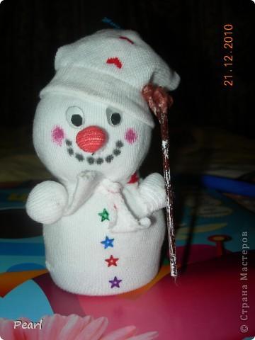 Спасибо большое за МК irinaje: http://stranamasterov.ru/node/110712?tid=451 Снеговички делаются очень быстро, выглядят - замечательно.   фото 1