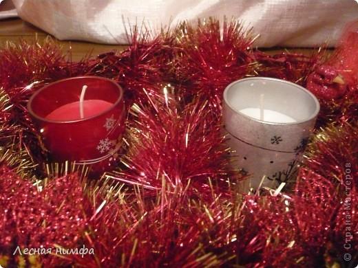 Это украшение для новогоднего стола выполнено по технике этого мастер-класса http://stranamasterov.ru/node/123173 делается легко и быстро. фото 8