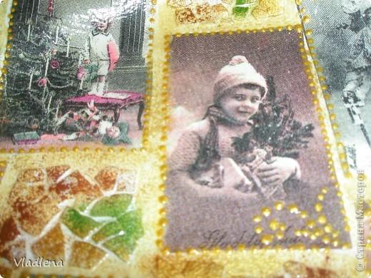 Декоративная тарелка на подставке, прямой декупаж, скорлупки, контуры. фото 3