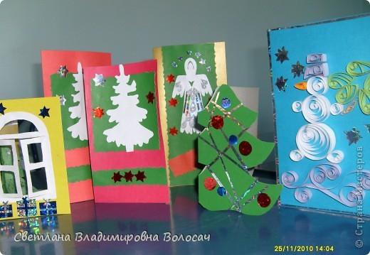 Впереди Новый год и как всегда начинаются предпраздничные хлопоты. Надо украсить и елку, и комнаты, сделать сюрприз друзьям, родственникам...  И конечно, куда без открыток, да ещё сделанных своими руками. фото 2