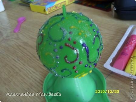 Новогодняя игрушка из шарика от смешариков(извините за каламбур). фото 4