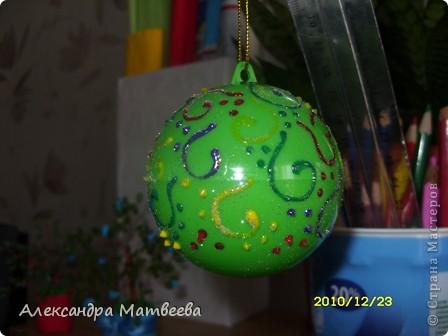 Новогодняя игрушка из шарика от смешариков(извините за каламбур). фото 5