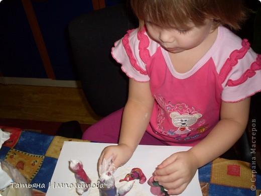 Маленьких кошечек делала София(3г), я помогала на всех этапах. фото 3