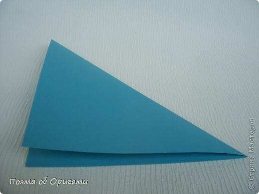 Чтобы сложить эту базовую форму, достаточно согнуть к вертикали верхние стороны базовой формы «воздушный змей». Далее поподробнее. фото 3