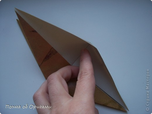 Этот технический прием может быть использован, если фигурка состоит как минимум из двух слоев бумаги.  фото 3