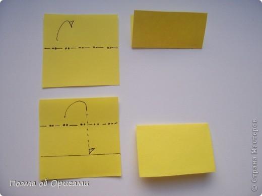 Для того, что бы прочитать схему даже самого сложного изделия, достаточно запомнить небольшой набор условных обозначений. Большая их часть была введена в практику еще в середине ХХ века известным мастером Акирой Йошизавой. Условные знаки играют роль своеобразных «нот», следуя которым можно воспроизвести любую, даже самую сложную работу. Все обозначения в оригами можно разделить на линии, стрелки и знаки. Для записывания того или иного приема могут быть использованы различные их комбинации. В данном файле дополнительно приведены англоязычные термины, которые используют для описания процесса складывания в посвященной оригами англоязычной литературе. Они уже давно установились и являются столь же общепризнанными, как и условные обозначения. фото 8