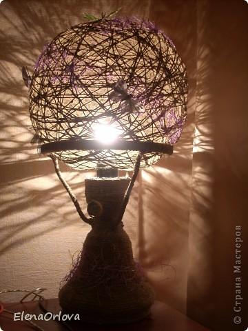 Попались мне тут на пути две лампы (бабушкины).Плафоны у них были давно разбиты.Выкидывать стало жалко, все таки эхо прошлого. )))) Вот и решила дать им второй шанс!  фото 10