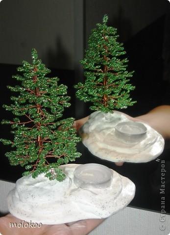 Поделка изделие Новый год Бисероплетение мои миниатюрные ёлки Бисер фото 1.