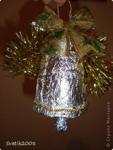 новогодний фонарик из голографического картона фото 8