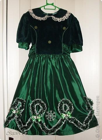 Вот такое платье я соорудила) для дочурки на утренник в детском саду (она будет елочкой). фото 1