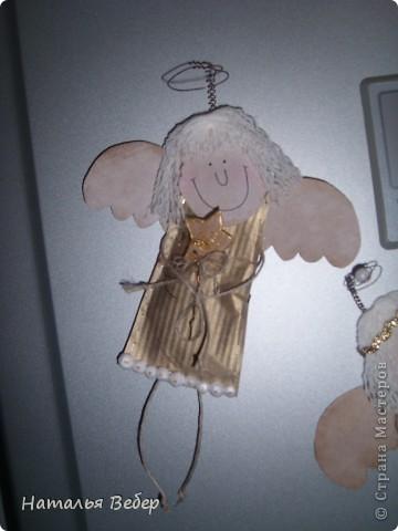 Вот такие Ангелочки родились сегодня у меня и поселились на холодильнике,возвестив о рождестве!!!!!)))...спасибо Голубке за этих красавчиков...я лишь немного их изменила)))) фото 4