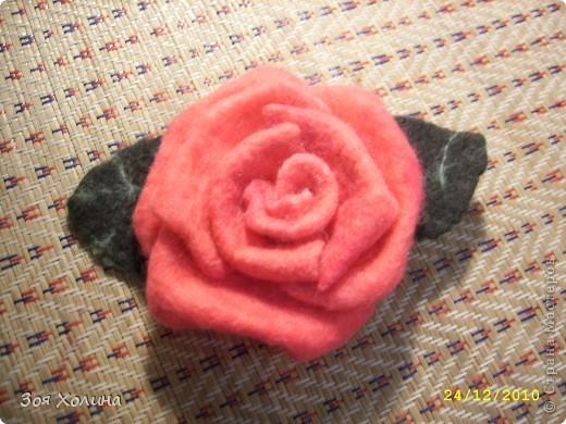 "Моя первая ""мокрая"" роза. Она станет подарком на Новый Год. фото 2"