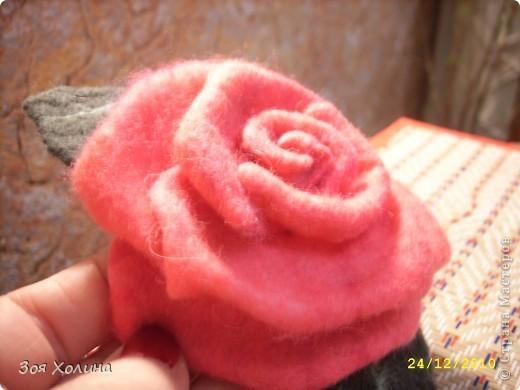 "Моя первая ""мокрая"" роза. Она станет подарком на Новый Год. фото 3"