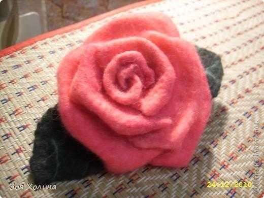 "Моя первая ""мокрая"" роза. Она станет подарком на Новый Год. фото 1"