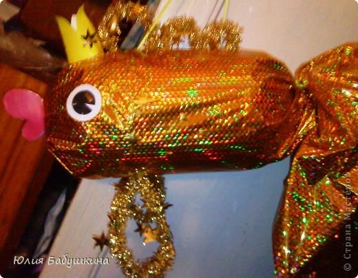 """новогодняя игрушка """"Золотая рыбка"""" фото 1"""