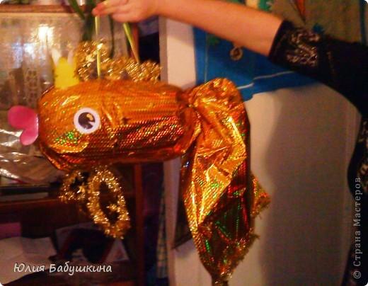 """новогодняя игрушка """"Золотая рыбка"""" фото 2"""