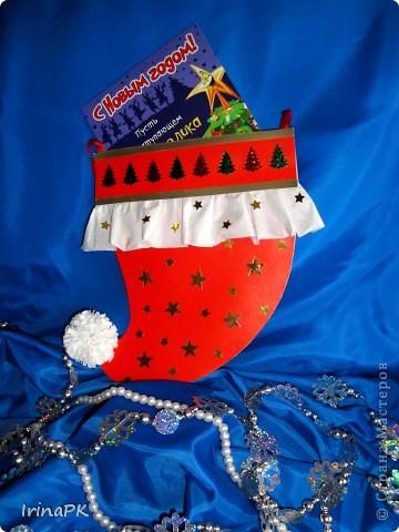 Такую новогоднюю шапку-колпак можно подарить вместо традиционного сапожка. фото 3