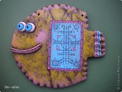 Еще одна рыбка в стиле росписи Дианы. Уж очень он мне в душу запал... фото 4