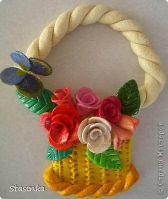 Корзинка с цветами, в подарок на 8е марта. фото 2