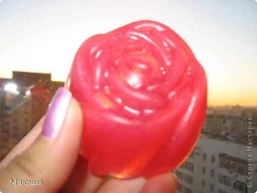 Роза с блестками... С эм розового дерева, запах обалденный. фото 3