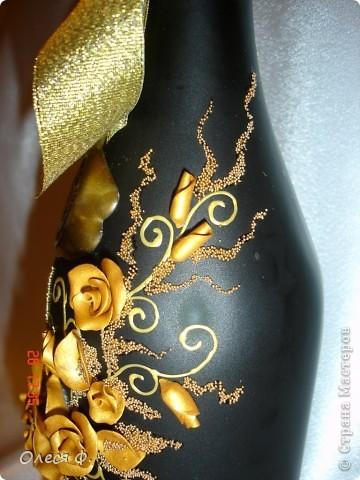 Вот такая бутылочка родилась на юбилей совместной жизни для знакомых.  фото 2