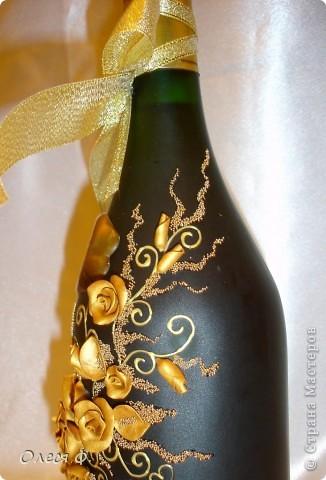 Вот такая бутылочка родилась на юбилей совместной жизни для знакомых.  фото 4
