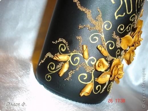 Вот такая бутылочка родилась на юбилей совместной жизни для знакомых.  фото 6