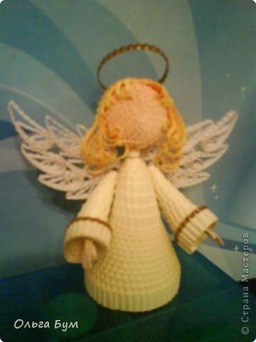 Доделала ангела! Немного пришлось похлопотать с крылышками - их посадкой и формой. Ручки тоже маленькие не сразу получились в размер.  фото 1