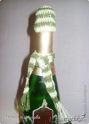 Новогодняя салфеточка и бутылочка фото 2