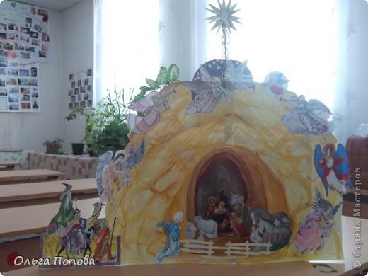 Это работа ребят из воскресной школы храма Покрова Пресвятой Богородицы. Общий вид (правда на фоне окна не очень удачно выглядит). фото 1