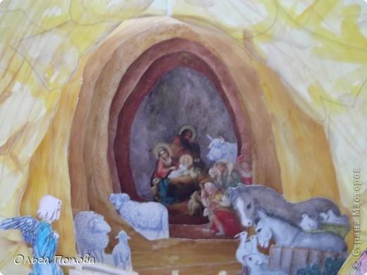 Это работа ребят из воскресной школы храма Покрова Пресвятой Богородицы. Общий вид (правда на фоне окна не очень удачно выглядит). фото 2