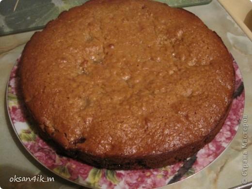 Оригинальный способ приготовления торта,приятный вкус и красивый внешний вид)))  фото 4