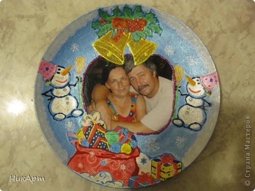 Тарелочка в подарок родителям, думала, что будет хуже, но результатом очень довольна. фото 1