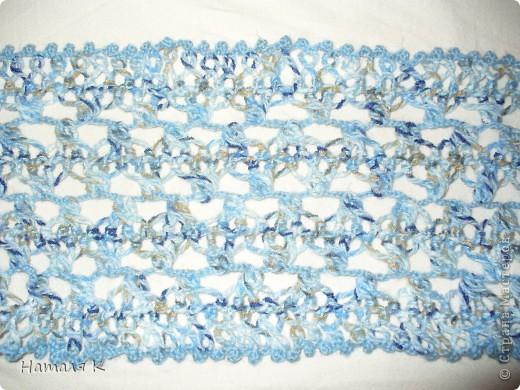 шарф связан на вилке в подарок маме фото 5