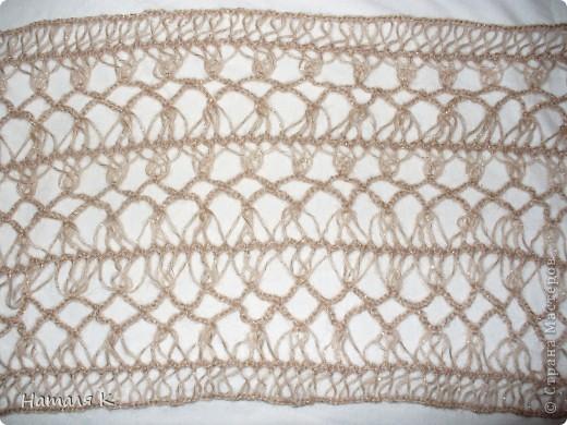 шарф связан на вилке в подарок маме фото 6