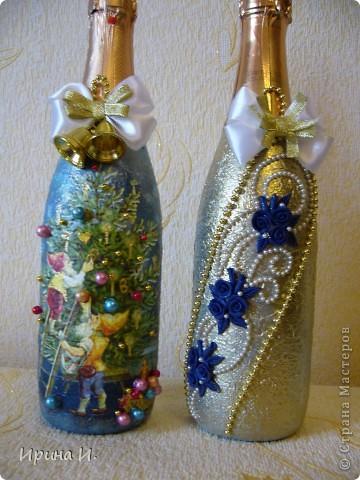 Еще бутылочки к Новому году фото 4