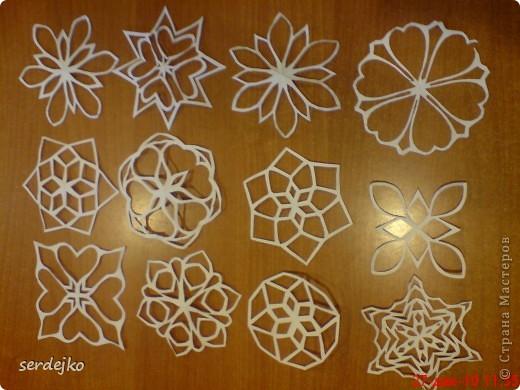 Малая часть моих снежинок ) шаблончики и мои, и сповторюшничала ) фото 1