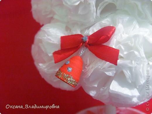 Наташенька, большое вам спасибо за чудесную елочку в белом, очаровалась поделкой и сегодня сотворила ей подружку Зефиренку )))  http://stranamasterov.ru/node/123170 Колокольчики квиллинг.    фото 2