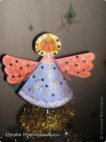 Ангелок для верхушки елочки фото 1
